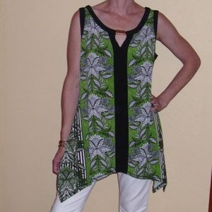 ND NEW DIRECTIONS SLEEVELESS TOP TUNIC SZ S NWT